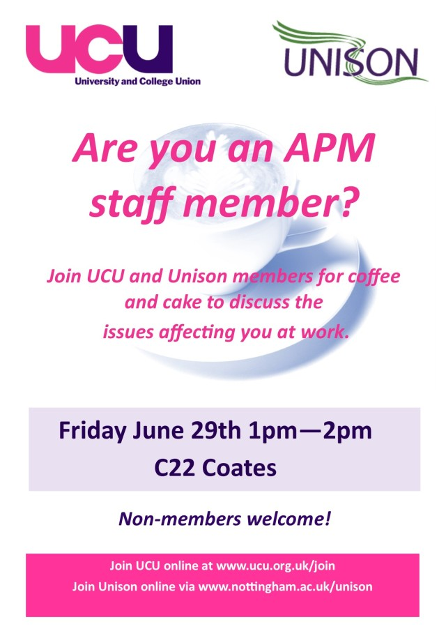 June 29th APM Unison and UCU